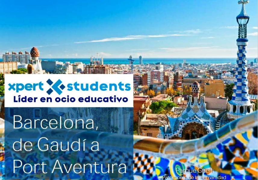 Barcelona de Gaudí a Port Aventura - Xpert-Students - Viajes escolares